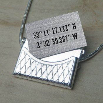 Coordinates Envelope Pendant - Unique Wedding or Mother's Day Gift - Ideal Bridesmaid Keepsake